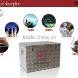 Aluminum diamond plate rolling vintage stacker cooler box