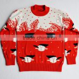 cotton kids christmas pullover jumper High quality Knitted christmas sweater