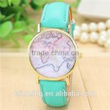 Made from china watch with world map