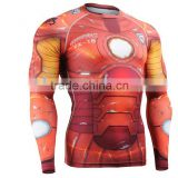 Custom gym training shirts sublimated lycra rush guards                                                                         Quality Choice