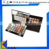 makeup personalized eyeshadow palette with 48 colors/professional cosmetic box acrylic eyeshadow display case