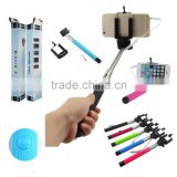 New design wholesale extendable camera tripod monopod selfie stick for mobile accessories