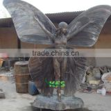 Bronze antique butterfly angel statue
