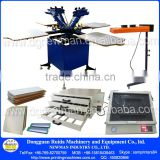 manual T-shirt 4 color 4 station silk screen printing machinery with exposure unit price