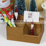wooden zakka storage box, organizer, wooden desk table organizer, zakka storage box for office use