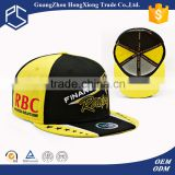 Cheap custom racing embroidery flat brim snapback cap