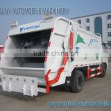 Foton 4*2 2cbm 3cbm 4cbm small compression garbage truck refuse truck 2axles