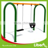 Children Metal Classic Park Double Swing Seat with Flat Seat and Baby Seat