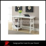 White useful wooden computer desk with assembly instructions                                                                         Quality Choice
