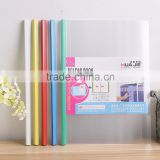 China factory A4 clear plastic spine bar file folders report folder