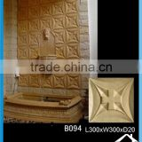 Cast stone 3d texture wall panel