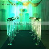1.2 m height beautiful wedding decoration centerpieces, wedding silver decoration flower stand walkway /pillar/column (MWS-017)                                                                         Quality Choice