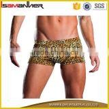Man boxer swim brief swim trunk sexy leopard nylon shorts mens swimming                                                                                                         Supplier's Choice