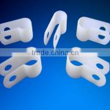 R Shape Electrical Fixing Cable Clamp plastic Flexible Conduit Cable Clip