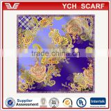 Factory directly printed scarf silk scarf for evening dress, silk scarf for evening dress