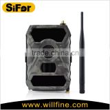 Adjustable PIR range mms GSM hunting trail camera support 3G network