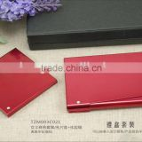 Aluminum makeup mirror and aluminum business card holder gift set packing /wedding gift sets