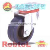 Swivel Caster with Elastic Rubber Wheels(Nylon core)itemID:LBBJ -Mary