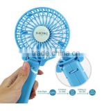 Portable Mini Electric Hand Hold USB/Battery Air Conditioner rechargeable Cooling Desk Palm-Leaf Hand Fan