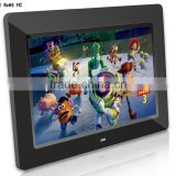 Video Playback Function wall mount LCD monitor 10inch large size digital photo frame