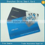 plastic PVC clear membership card with frosted surface, embossing number business card with loco magnetic stripe