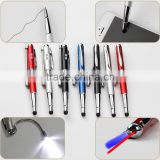 Advertising Logo Pen Stylus Touch 5 Functions With Flexible LED Tube,Laser Light,UV Ray For Counterfeit Money Detector