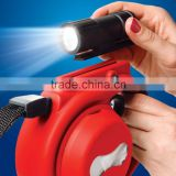 wholesale retractable dog leash with removable flashlight