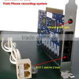 Telephone call recording device/ PCI call recorder DAR-8CH