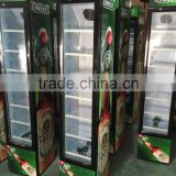 105L Upright display showcase, freezer for drink and beer ,Single door Supermaket soft drinks freezer showcase