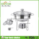 Hotel round chafing dish/food warmer hot pot/hot food warmer buffet server