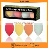4pcs Colorful Angled Beauty Refining Complexion Makeup Blending Sponge Egg                                                                         Quality Choice