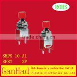 spdt 2 pin mini toggle switch&sub-monentary pushbutton switch