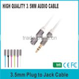 Premium Quality 3.5mm Stereo Jack TO Plug cable 1.2M for car/speaker/computer/Mobile Phone