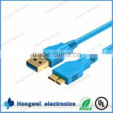 Super high speed 5Gbps USB 3.0 A male to Micro USB B male with triple shielded cable charging sync data cable