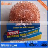 Hot Selling 28g copper coated scourer, copper coated wire scourer/Copper Mesh Ball Scourer