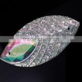 Wholesale Peacock Horse Eye Flatback Resin for Garment Accessory , Sew On Rhinestone Cabochons ,2 Holes                                                                         Quality Choice