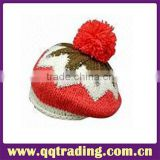 New style fashion design wholesale winter warm cotton lovly wholesale fashion design winter beanie knitted hat