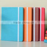 Elastic Band Business Stationery PU Leather Cover Notebook with Ribbon Marker