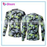 camo running t shirt mens moisture wicking long sleeve compression wear compression shirt