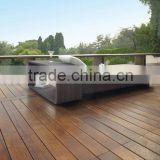 Alibaba manufacturer wholesale outdoor furniture round rattan daybed with canopy
