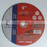 "9"" 230X3X22.2mm T41 T42 Cutting Wheels Cutting Discs for Metal Stainless steel Carbon steel"