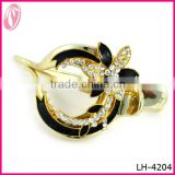 Special Shape black painted flower jewelry white Crystal Hair Clips For Mom