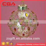 New design hanging personalised christmas glass ball as christmas ornament and christmas decoration from china supplier