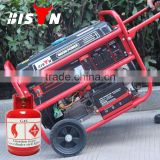 BISON(CHINA) Zhejiang 5KW Gas Methane Gasoline 2Wheel Generator Kit LPG Price