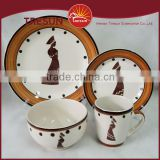Modern China stoneware crockery dinnerware sets sale for home dinner set