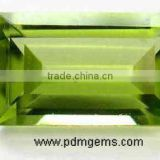 Peridot Semi Precious Gemstone Baguette Cut For Diamond Jewellery From Manufacturer/Wholesaler