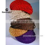5m Textile/Cloth Covered Silk Wire 2-Wire Round Cord, Vintage Style Fabric Cord for Pendants, Lamps