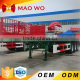 MAOWO heavy duty flatbed 3 axle 20ft 40ft container tractor truck trailer