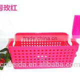 Hot Sale Colourful Plastic Basket for carrying friut & file, storaging,barbecue and office