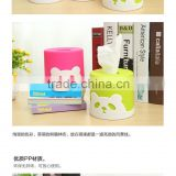 New Development Hot Sale Manufacture Customizable Simple design circular Tissue Box The plastic panda tissue box